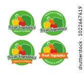 fresh vegetables logo design... | Shutterstock .eps vector #1022667619
