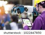 industry 4.0 robot concept ... | Shutterstock . vector #1022667850