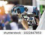 industry 4.0 robot concept ... | Shutterstock . vector #1022667853