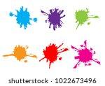 vector splatter set collection...   Shutterstock .eps vector #1022673496