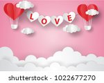 valentine's day concept.love... | Shutterstock .eps vector #1022677270