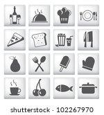 icons set for restaurant  cafe... | Shutterstock .eps vector #102267970