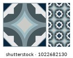 vintage tiles patterns antique... | Shutterstock .eps vector #1022682130