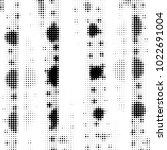 grunge halftone black and white ... | Shutterstock . vector #1022691004
