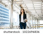 beautiful young businesswoman... | Shutterstock . vector #1022696836