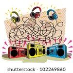headphones maze game task ...