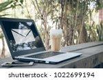 email alert on display of...   Shutterstock . vector #1022699194