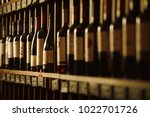 wine cellar with elite drinks... | Shutterstock . vector #1022701726
