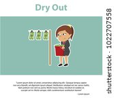 indian businesswoman dry out... | Shutterstock .eps vector #1022707558