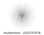 abstract monochrome halftone... | Shutterstock .eps vector #1022707678