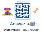 children's labyrinth with dog... | Shutterstock .eps vector #1022709004