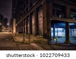 dark city downtown street... | Shutterstock . vector #1022709433