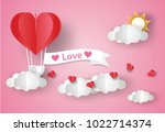 valentine's day concept.love... | Shutterstock .eps vector #1022714374