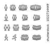vector image set of people line ...   Shutterstock .eps vector #1022714449