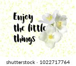enjoy the little things quote... | Shutterstock .eps vector #1022717764