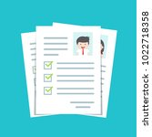documents with personal data ... | Shutterstock .eps vector #1022718358