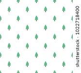 seamless tree pattern background | Shutterstock .eps vector #1022718400