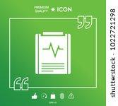 electrocardiogram symbol icon   Shutterstock .eps vector #1022721298
