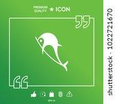 dolphin symbol icon   Shutterstock .eps vector #1022721670