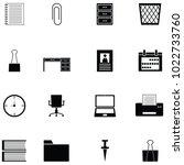 workspace icon set | Shutterstock .eps vector #1022733760
