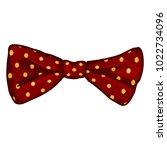 vector cartoon red dotted... | Shutterstock .eps vector #1022734096
