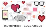 vector illustration of love... | Shutterstock .eps vector #1022735308