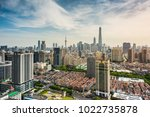 panorama view of shanghai... | Shutterstock . vector #1022735878