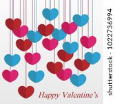 happy valentine's greeting card | Shutterstock .eps vector #1022736994