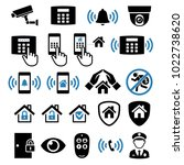 security system network icons....   Shutterstock .eps vector #1022738620