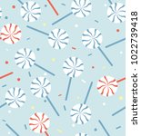 seamless pattern with striped... | Shutterstock .eps vector #1022739418