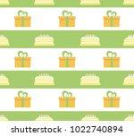 vector seamless pattern gifts.  | Shutterstock .eps vector #1022740894