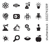 solid black vector icon set  ... | Shutterstock .eps vector #1022741509