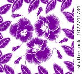 seamless pattern with flowers...   Shutterstock .eps vector #1022741734