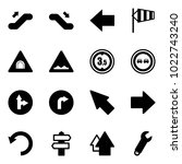 solid vector icon set  ... | Shutterstock .eps vector #1022743240