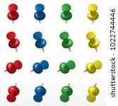Set Of Multicolored Push Offic...