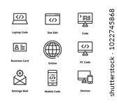 9 development thin line icons....