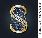 letter logo s. vector. abc.... | Shutterstock .eps vector #1022747053