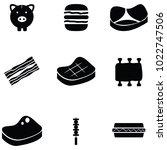 pork icon set | Shutterstock .eps vector #1022747506