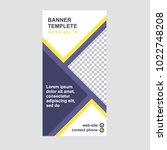 roll up banner template with... | Shutterstock .eps vector #1022748208