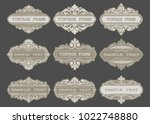 vintage frame with beautiful...   Shutterstock .eps vector #1022748880