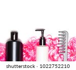 curly hair care and styling... | Shutterstock . vector #1022752210