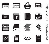 solid black vector icon set  ... | Shutterstock .eps vector #1022752333