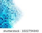 vector illustration  hi tech... | Shutterstock .eps vector #1022754343