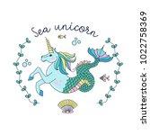 mythological creature. the sea... | Shutterstock .eps vector #1022758369