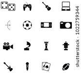 hobby icon set   Shutterstock .eps vector #1022759344
