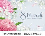 chrysanthemums and apple... | Shutterstock .eps vector #1022759638