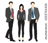 men and woman standing. people... | Shutterstock .eps vector #1022761420