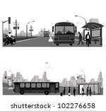 vector illustration  bus... | Shutterstock .eps vector #102276658
