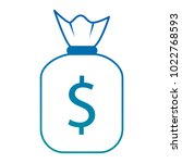 money bag isolated icon | Shutterstock .eps vector #1022768593