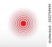 pain circle. red ring  symbol...   Shutterstock .eps vector #1022769694
